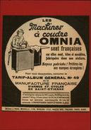 MACHINES A COUDRE - PUB OMNIA - Pub Issue D'une Revue Collée Sur Carton - Publicités