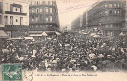 """-  108  -   LILLE   -  La Braderie  -  Place De La Gare Et Rue Faidherbe -  Pharmacie """" Lobry """" - Grand Hôtel De Lyon - Lille"""