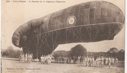MILITARIA - AVIATION  -  COMPIEGNE - 60 -  La Saucisse Du 1er Régiment D'Aérostiers - Zeppeline