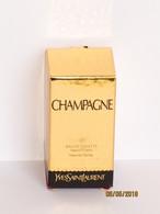Miniatures De Parfum BOITE VIDE   MINIATURE CHAMPAGNE  EDT SPRAY  7.5 ML De YVES SAINT LAURENT AVEC RAYURES - Miniatures Modernes (à Partir De 1961)