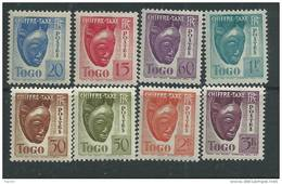 Togo Taxe N° 24 / 31 XX  : Les 8  Valeurs Sans Charnière, TB
