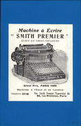 MACHINES A ECRIRE - PUB SMITH PREMIER - Issue D'une Revue De 1909 Et Collée Sur Feuillet - Publicités