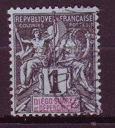 Diego Suarez.*  - N° 25 - 1c Noir S. Azure - Diégo-suarez (1890-1898)