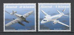 ALAND 2007 N° 277/278 ** Neufs MNH Superbes Cote 3.75 € Avions Postaux Planes Junkers Saab Transports - Aland
