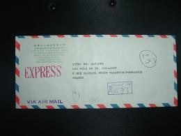 LR EXPRESS Par AVION TP 8 00 X3 + TP 5 00 + TP 1 00 OBL.+ TAIWAN YAMANI CHANGHUA - 1945-... République De Chine