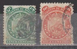 BOLIVIE - BOLIVIA - COLLECTION D'ANCIENS - 1871- N° 14 Et 15 Oblitérés - Bolivie