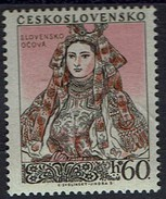 Tschechoslowakei 1955 - Volkstrachten - Slowakin Aus Ocovaa - MiNr 921 // - Textil