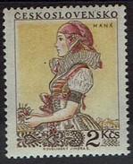 Tschechoslowakei 1955 - Volkstrachten - Hanakin Aus Mähren - MiNr 924 ** - Textil