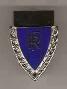 SUPERBE INSIGNE PIN'S RF RÉPUBLIQUE FRANCAISE ARGENT ET BLEU - R. RUBIN - 2 Scans - - Otros