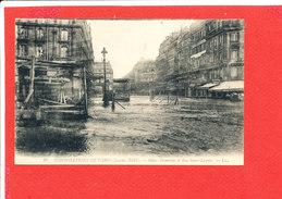 75 PARIS INONDATIONS 1910 CRUE SEINE Cpa   Hotel Terminus Et Rue St Lazare    20 LL - Inondations De 1910