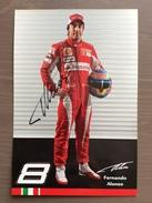 Cartoncino Di Presentazione Fernando Alonso Pilota F1 Ferrari CON AUTOGRAFO ORIGINALE - Grand Prix / F1