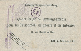 856/24 - Carte Kriegsgefangenensendung 1917 D'un Prisonnier Belge - Réception D'un Colis - Censure Du Camp De CASSEL