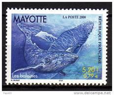 Mayotte N° 82  XX Faune : Cétacés Les Baleines Sans Charnière TB