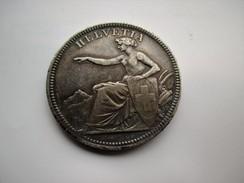 Zwitserland  5 Franken 1874 B     PATINA - Switzerland