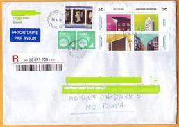 Used Stamps Estonia. Registered Letter Estonia Moldova. - Estonia