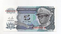 Zaire - 1993 - Banconota Da 5 Nuovi Makuta - Nuova -  (FDC2372) - Zaire