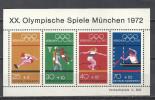 Deutschland 1972 Bund Michel Block 8 734-737 ** MNH. XX. Olympische Spiele München - [7] Federal Republic