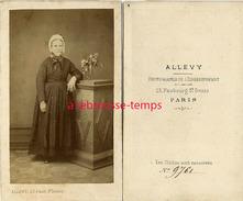 CDV Mode Second Empire-domestique?-photographe Allevy -enseignement- Faubourg Saint Denis Paris - Photographs