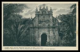 GOA - Capela Construida Por S. Francisco Xavier Em Goa(velha Cidade) ( Ed.Souza & Paul) Carte Postale - Inde