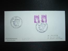 LETTRE TP SABINE DE GANDON 0,50 X2 OBL.9 AVRIL 1978 80 DOULLENS (SOMME) 60e ANNIVERSAIRE COMMANDEMENT UNIQUE - Guerre Mondiale (Première)