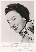 AUTOGRAPHE- DÉDICACÉ  - COLETTE MARS -Artiste Cinéma- Photo 1954 -15x10 Cm - Autógrafos