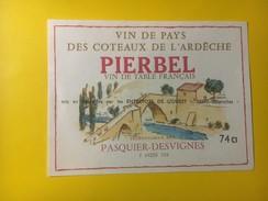 2862 - Vin De Pays Des Coteaux De L'Ardèche Pierbel Vin De Table - Rouges