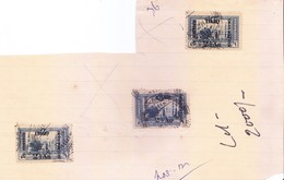 BRITISH OCCUPATION IN IRAQ - 1917 - OVERPRINT ON OTTOMAN STAMP  - 2 1/2 ANNAS OVERPRINT  - 3 PIECES - Great Britain (former Colonies & Protectorates)