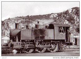 Unique 50 Carte Photo CHERBOURG - Locomotive Américaine Stationnant à CHERBOURG - Cherbourg