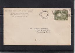 U.S.POSTAGE Entier 1c Sur Lettre  De N.Y. CITY HALL ANNEX  1933  Pour CLINTON Iowa
