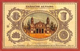 """06547 """"TABACOS ALVARO - FAVBRICA FUNDADA EN SAN CRISTOBAL DE LA LAGUNA, 1921"""" ETICHETTA ORIG. - Etichette"""