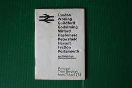 ORAIO TRENI LONDON-PORTSMOUTH - 1973 - Europa