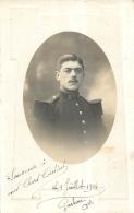 CARTE PHOTO  JUIILLET 1914 SOLDAT AVEC LE CHIFFRE 9 SUR LE COL - Regimente