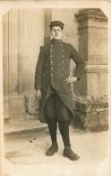 CARTE PHOTO ECRITE DE SAINT SORLIN  SOLDAT AVEC LE CHIFFRE 30 SUR LE COL - Regimente