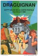 VAR 83 DRAGUIGNAN   1995 LE CINEMA COLLAGE DE FABIEN MOREAU - Collector Fairs & Bourses