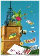 VAR 83 DRAGUIGNAN  ANNÉE 1992  LA TOUR DE L'HORLOGE ET LE DRAGON - Bourses & Salons De Collections