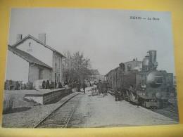 TRAIN 2209 - CPM REPRODUCTION- 17 BURIE - LIGNE DE ST JEAN D'ANGELY A COGNAC LOCOMOTIVE 130 T CAIL N° 77 DES CFD EN GARE - Autres Communes