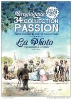 VAR 83 DRAGUIGNAN CARTE COMMEMORATIVE DU SALON COLLECTION PASSION 2015 ILLUSTRATEUR MICHAËL CROSA - Bourses & Salons De Collections