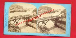 Photo Stéréoscopique Avant 1900 ... Pont Du Basta à BIARRITZ  ...Pyrénées-Atlantiques - Places
