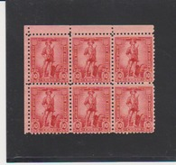 United States Scott # WS7 MNH Block Of 6 Catalogue $3.00 Slight Seperation - Revenues