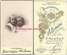 CDV Joli Couple D'enfants-photo Inaltérable- A. Lumière à Lyon Jullien Successeur - Old (before 1900)
