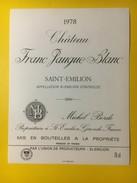 2884 - Château Franc Jauque Blanc 1978 St-Emilion - Bordeaux