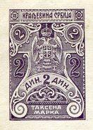 Serbia Serbien Serbie 1914 Revenue Stamped Paper 2 Dinars Fiscal Tax Stempelpapier Nova Varoš - Serbia