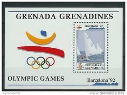Mua860 SPORT OLYMPISCHE SPELEN ZEILEN OLYMPIC GAMES BARCELONA SAILING SEGELN GRENADA GRENADINES 1992 PF/MNH - Zomer 1992: Barcelona