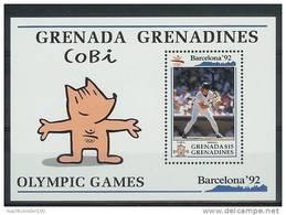 Mua861 SPORT OLYMPISCHE SPELEN HONKBAL OLYMPIC GAMES BARCELONA BASEBALL GRENADA GRENADINES 1992 PF/MNH # - Zomer 1992: Barcelona