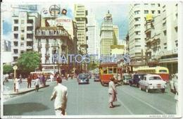 64041 BRAZIL BRASIL SAO PAULO AVENUE SAO JOAO TRAMWAY TRANVIA POSTAL POSTCARD - Brazil
