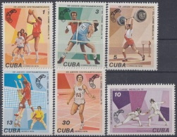 1978.50 CUBA 1978 MNH Ed.2477-2482. JUEGOS CENTROAMERICANOS.CENTROAMERICAN GAMES. BOXING VOLLEYBALL BASKETBALL ESCRIME. - Unused Stamps