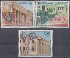 1978.52 CUBA 1978 MNH Ed.2437-2439. 250 ANIV UNIVERSIDAD DE LA HABANA. FONDATION HAVANA UNIVERSITY. - Cuba