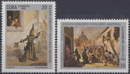 1982.58 CUBA 1982 MNH Ed.2857-58. XX ANIV CONJUNTO FOLKLORICO. ART LANZALUCE DIABLITO YREME DIA DE REYES. - Cuba