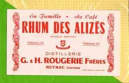 BUVARD  Du Rhum Des ALISES Distillerie ROUGERIE Meymac Correze - Liquor & Beer