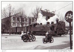 Unique 93 Carte Photo LA PLAINE SAINT DENIS Passage Train Et Locomotive Vapeur Av Président WILSON - Saint Denis